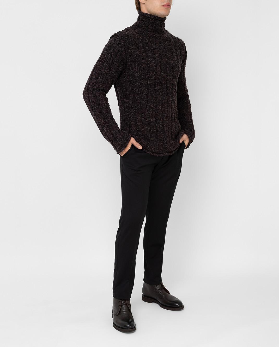Dolce&Gabbana Коричневый свитер из шерсти изображение 2