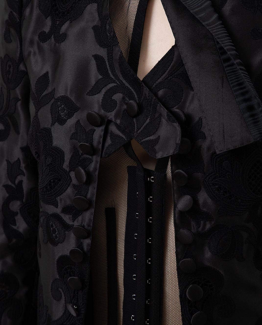 Dolce&Gabbana Черный жакет из шелка изображение 5
