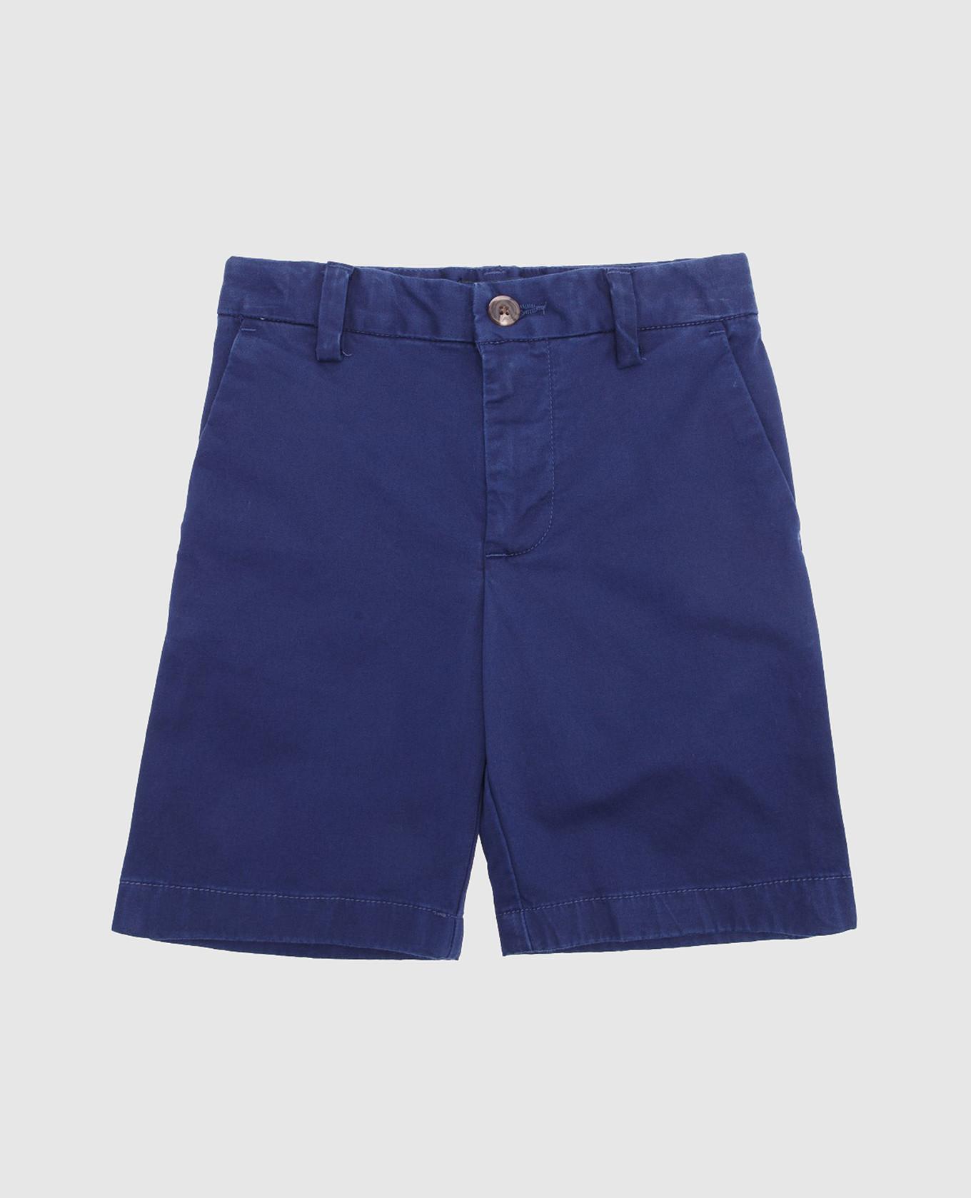 Детские синие шорты