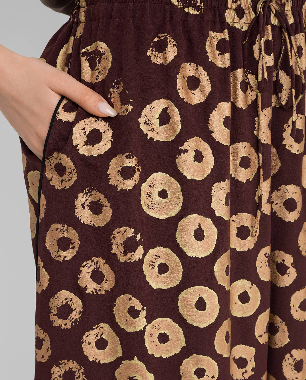 Valentino Коричневая юбка из шелка KB0RA1D12JC изображение 5