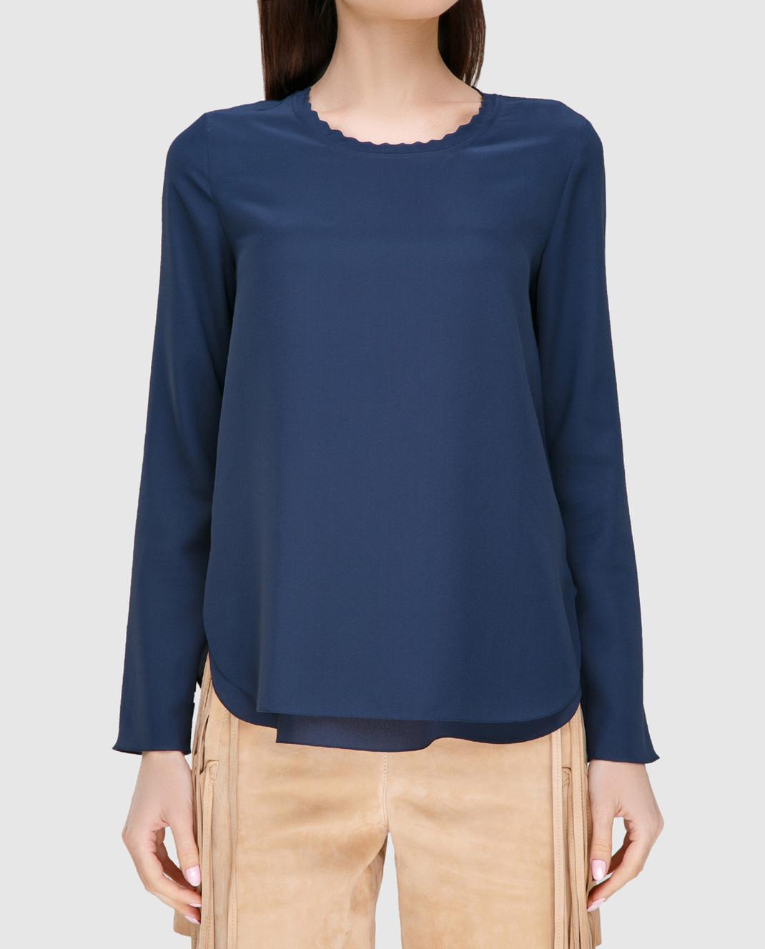 Chloe Синяя блуза 17SHT31 изображение 3