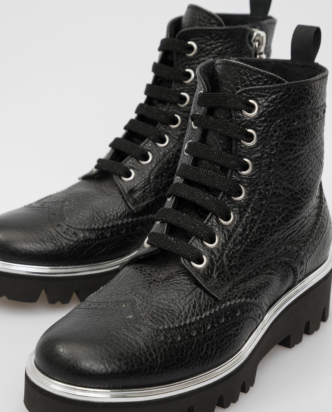 Zecchino D'oro Детские черный ботинки R0868013032 изображение 4