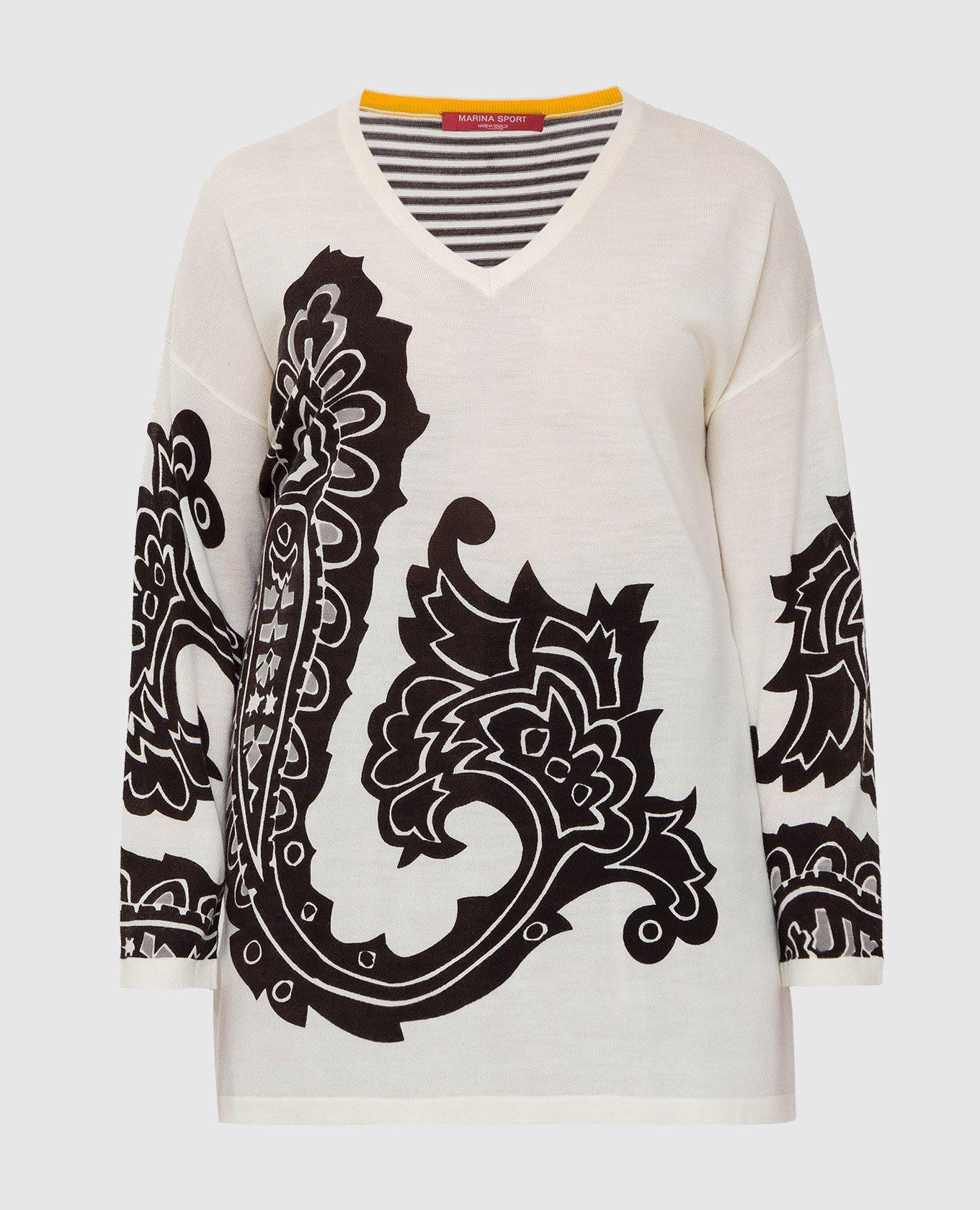 Светло-бежевый пуловер из шерсти