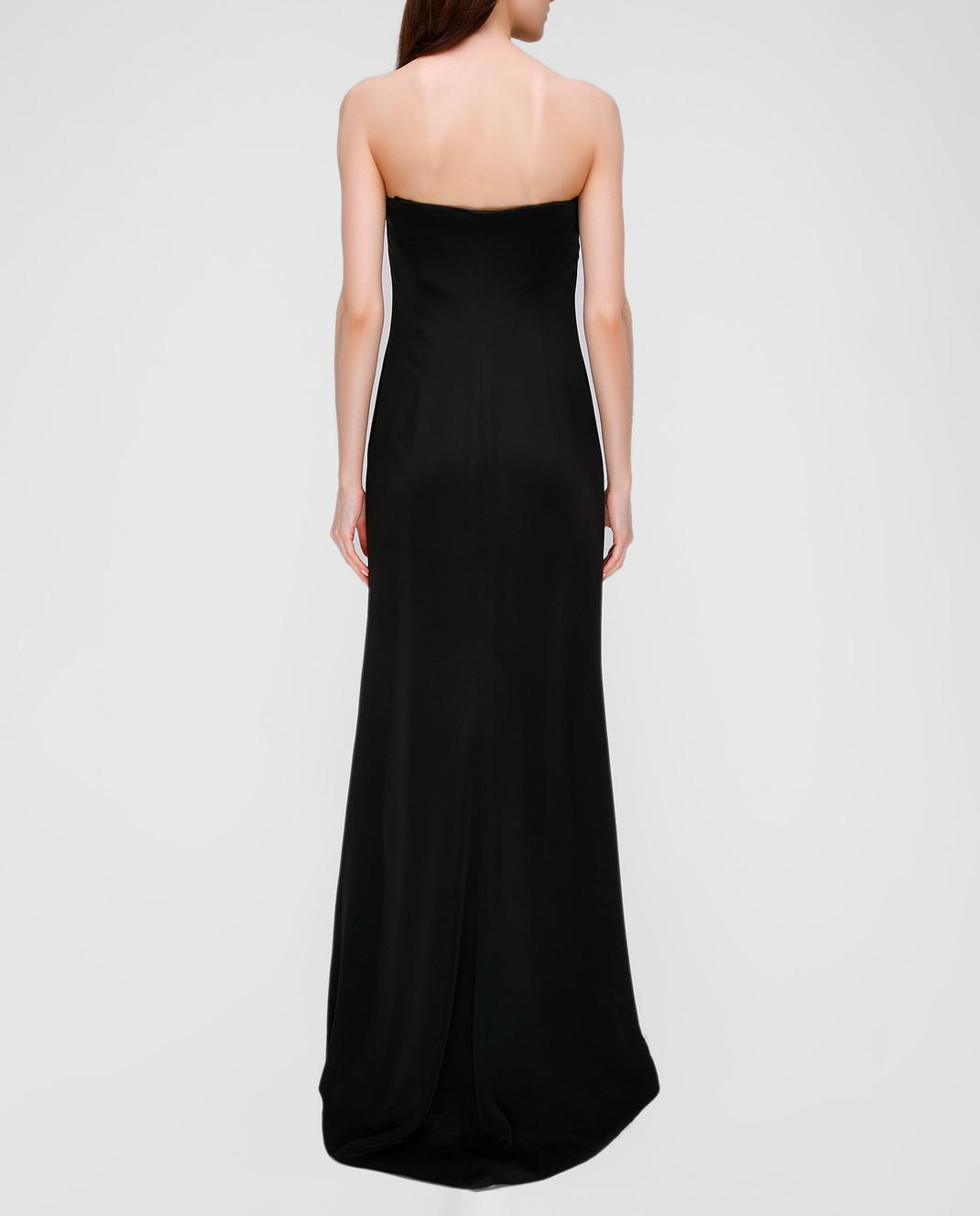 Valentino Черное платье из шелка B0AB3S0 изображение 4