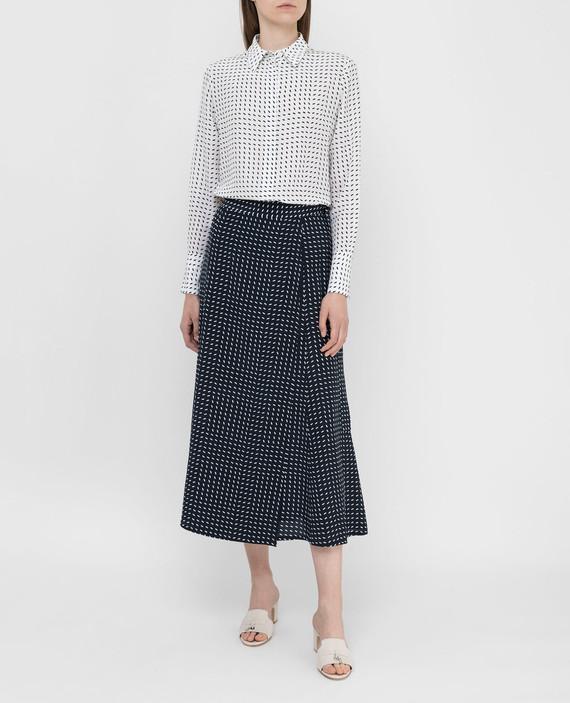Темно-синяя юбка из шелка hover
