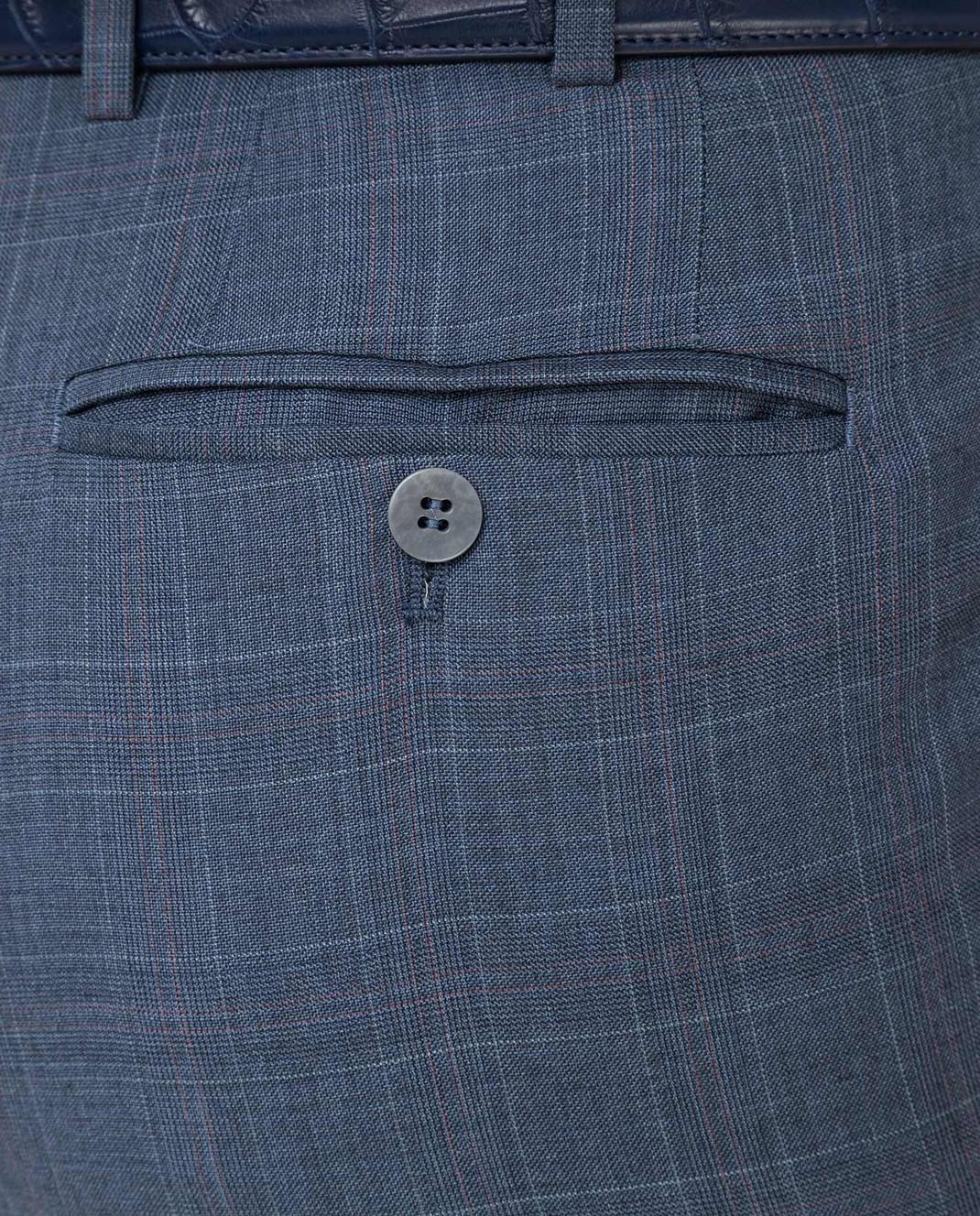 ISAIA Синие брюки из шерсти 0073153629F изображение 5