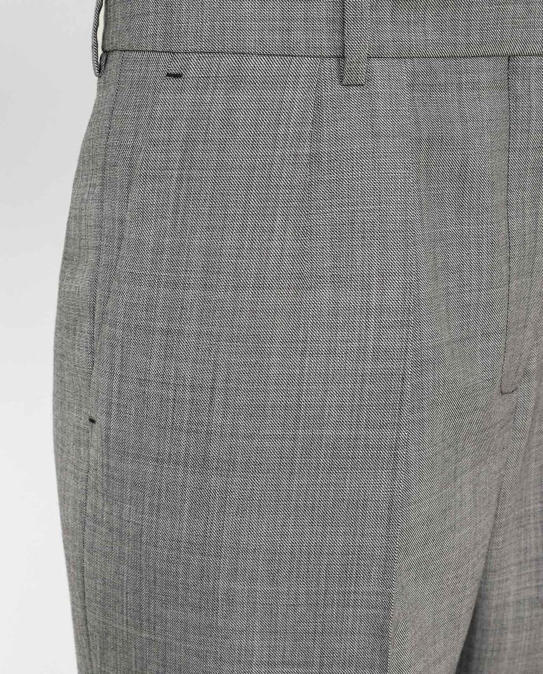 Victoria Beckham Серые брюки из шерсти TRTPR2600B изображение 5