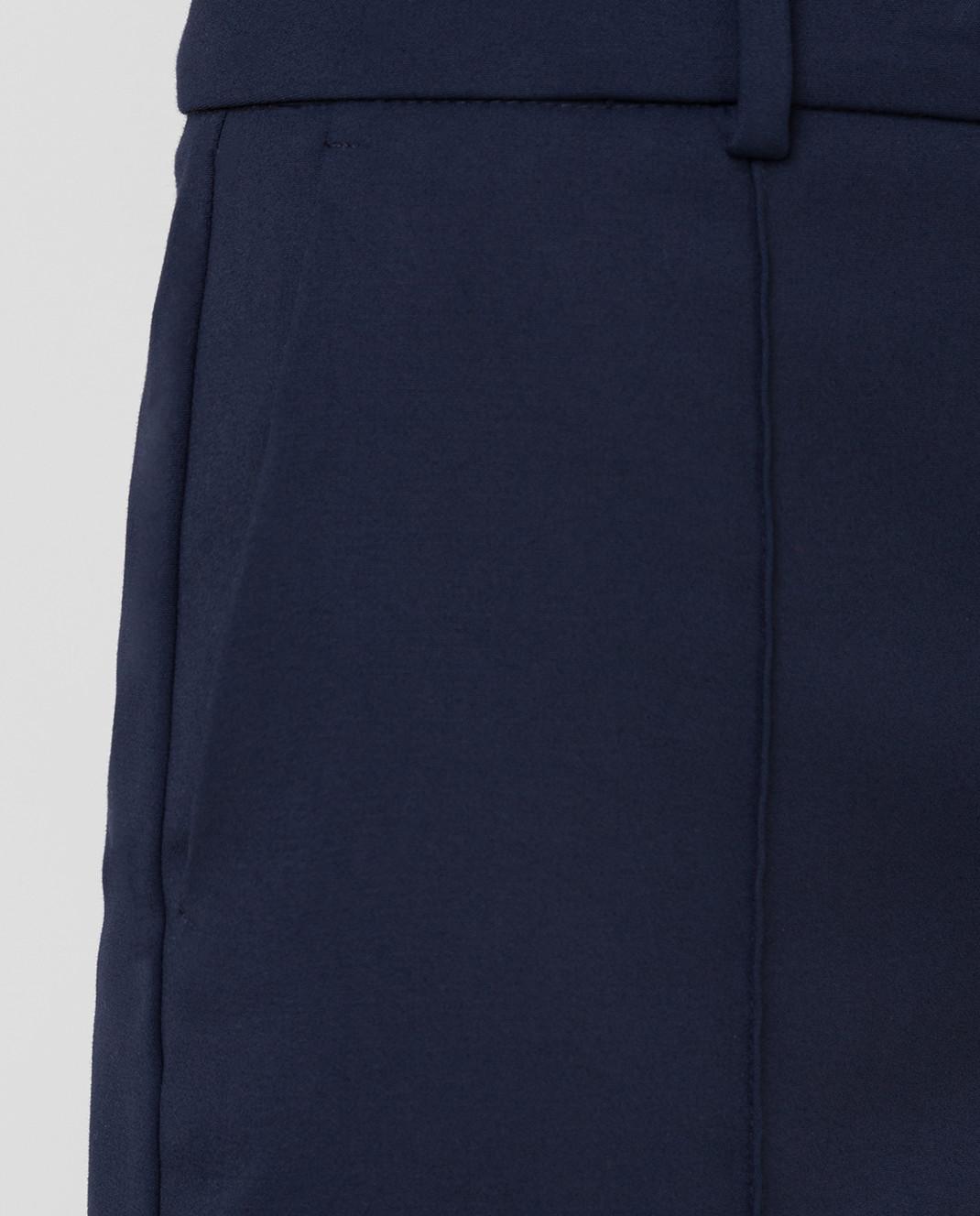 Max Mara Sportmax Темно-синие брюки FATA изображение 5