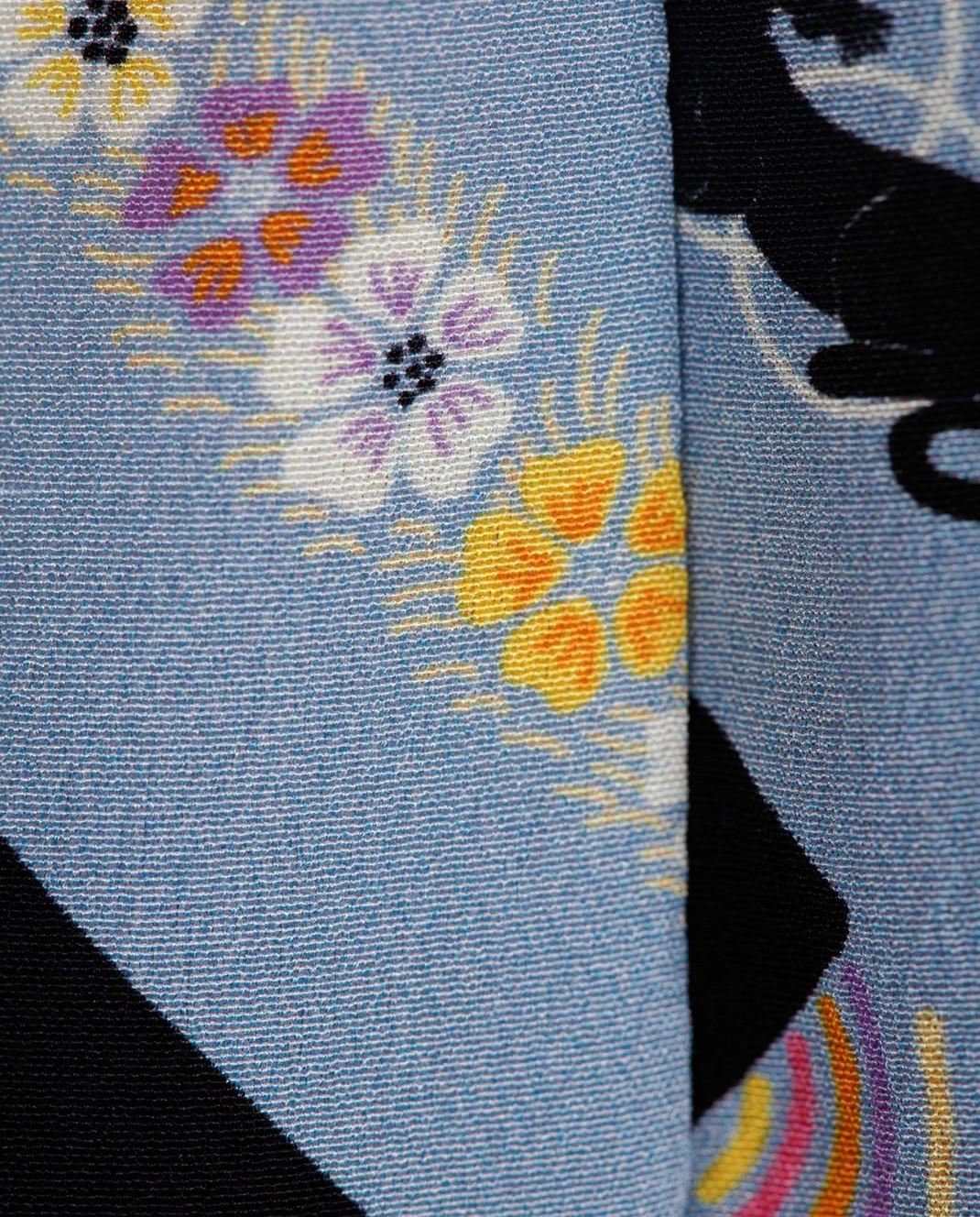 Marc Jacobs Голубая юбка из шелка изображение 5