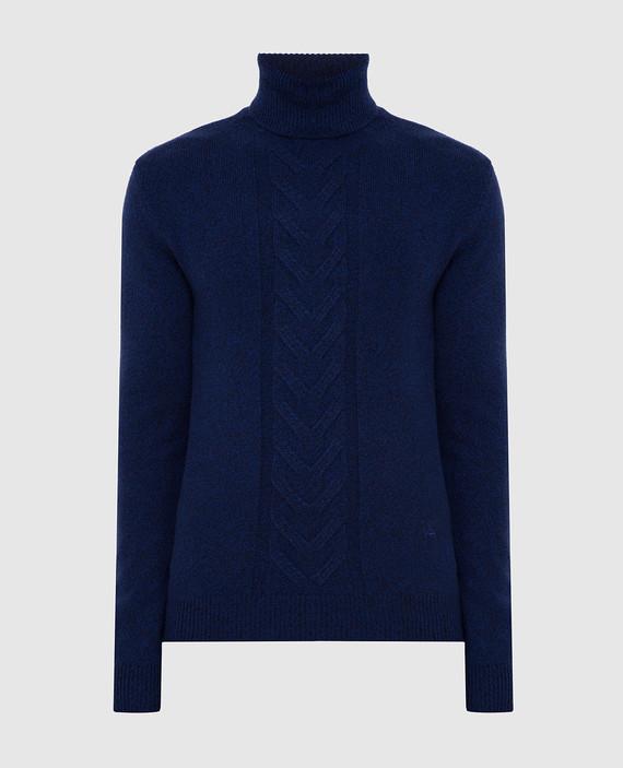 Синий свитер из шерсти