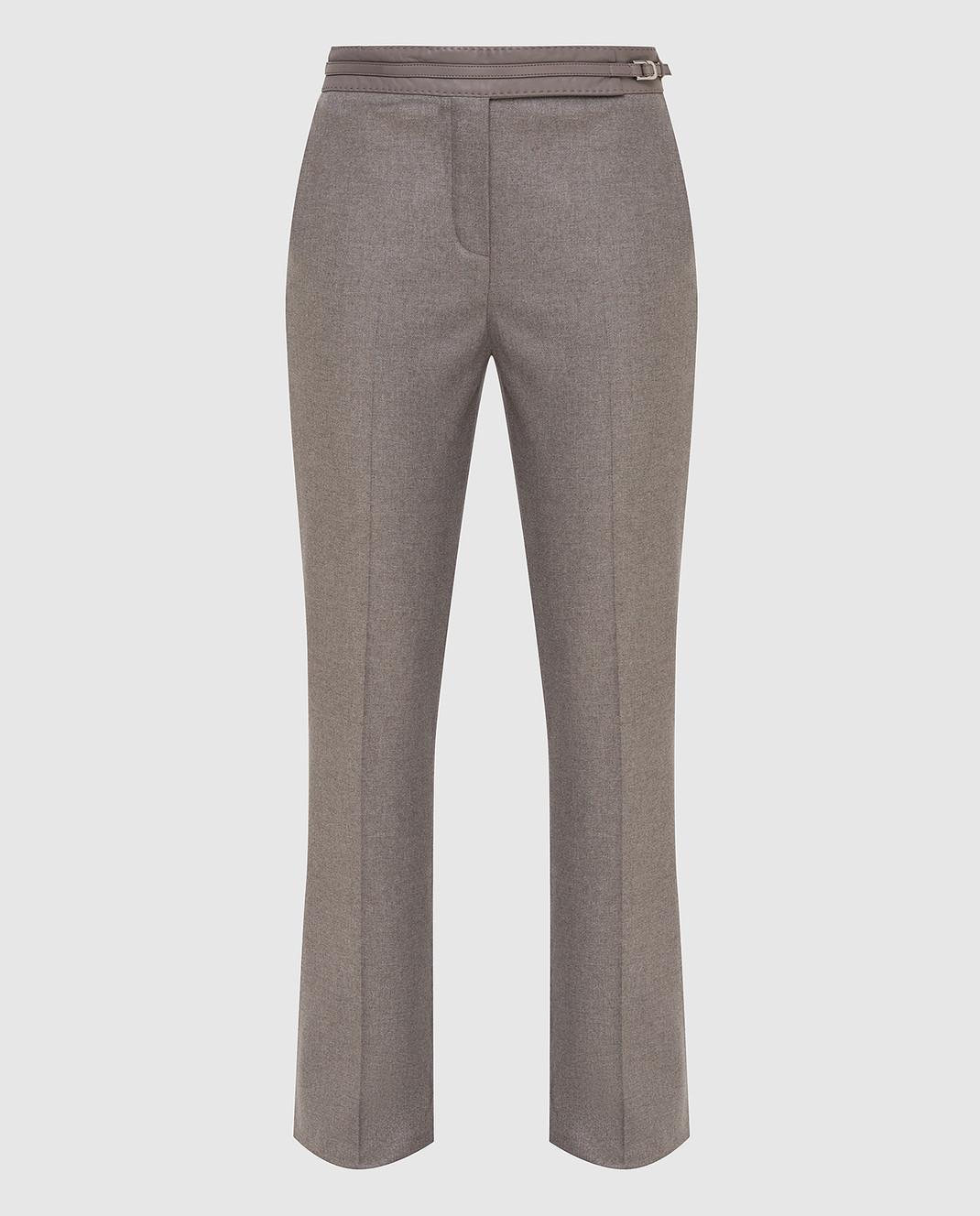 Loro Piana Серые брюки из кашемира F1FAF8151