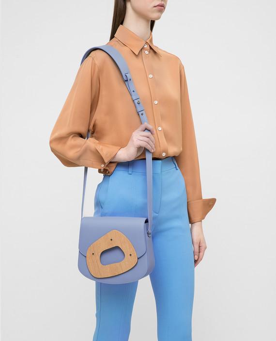 Голубая кожаная сумка L'amorphe hover