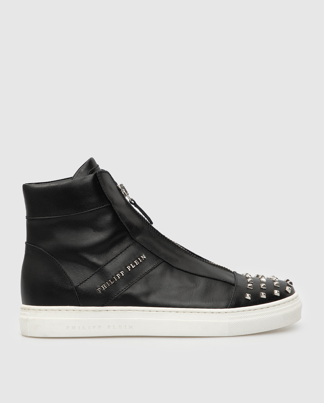 Philipp Plein Детские черные кожаные ботинки BSC0051