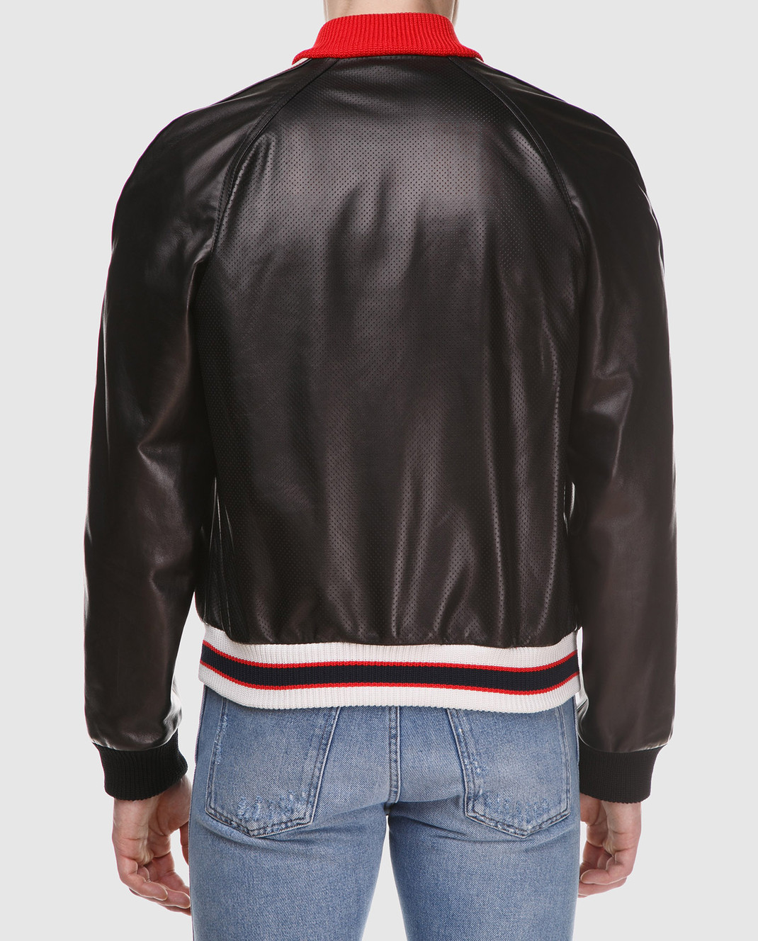 Gucci Коричневый кожаный бомбер 501174 изображение 4