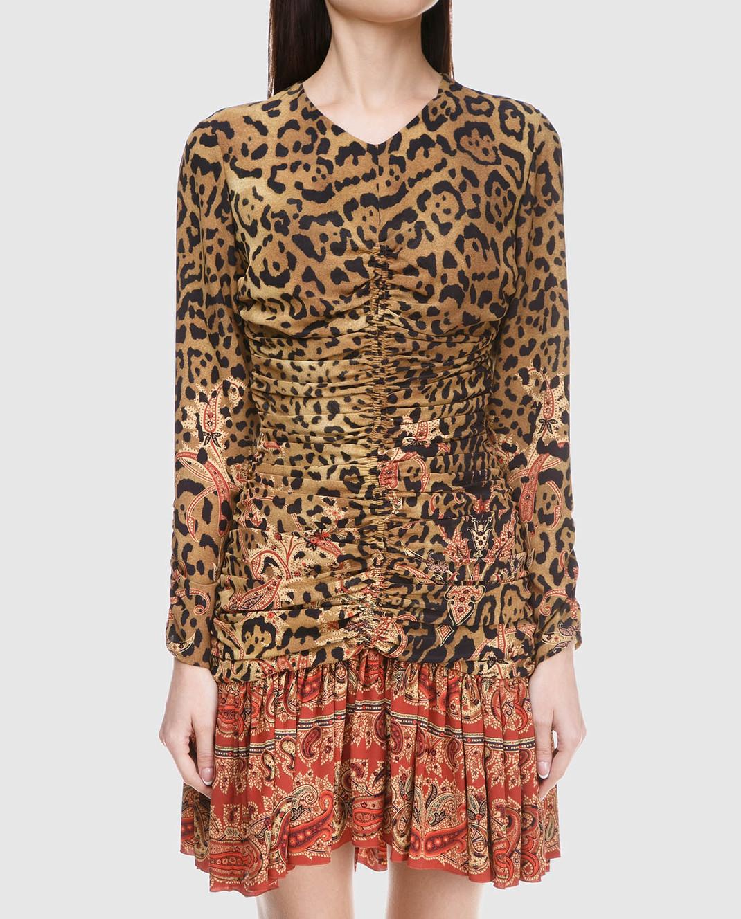 Etro Бежевое платье из шелка D152335384 изображение 3