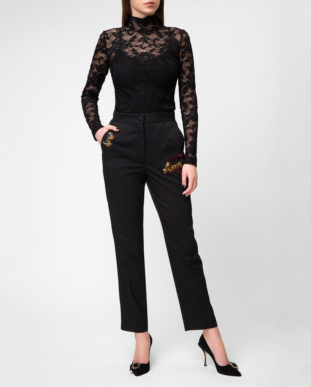Dolce&Gabbana Черные брюки FTAM2ZFUBBG изображение 2