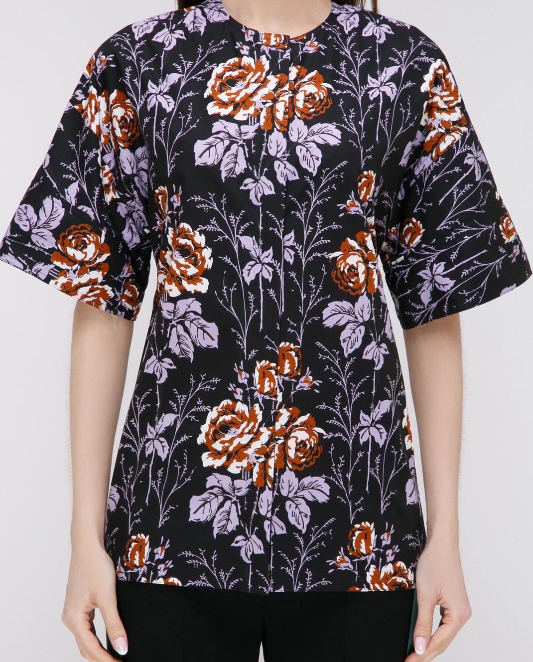 Victoria Beckham Черная блуза SHSHO1047 изображение 3