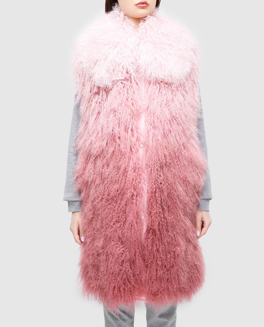 Moncler Розовый жилет из меха ягненка 48938 изображение 3