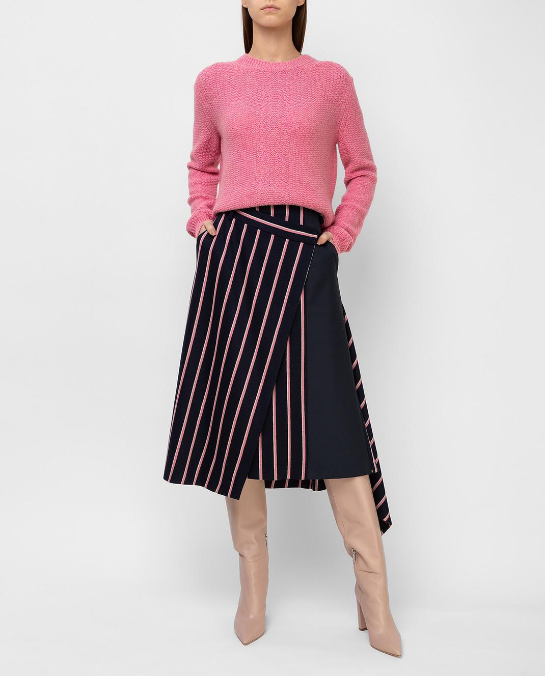 Max Mara Темно-синяя юбка из шерсти PINNE изображение 2