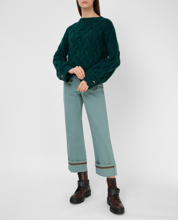 Зеленый свитер из кашемира hover