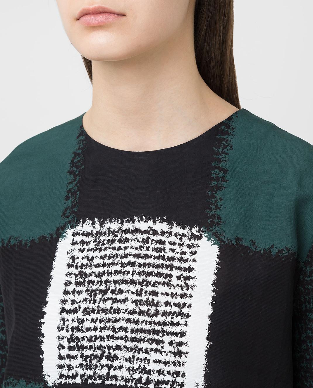 Marni Черная блуза CAMAQ28A00TV395 изображение 5