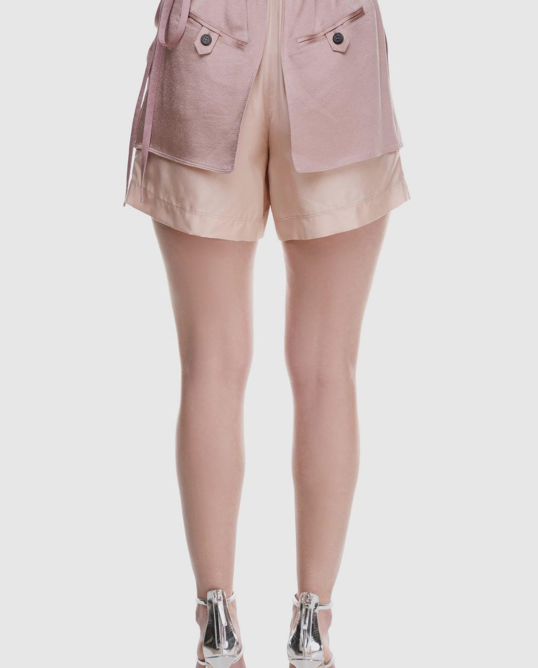 Valentino Розовые шорты из шелка и хлопка PB0RF0N537C изображение 5