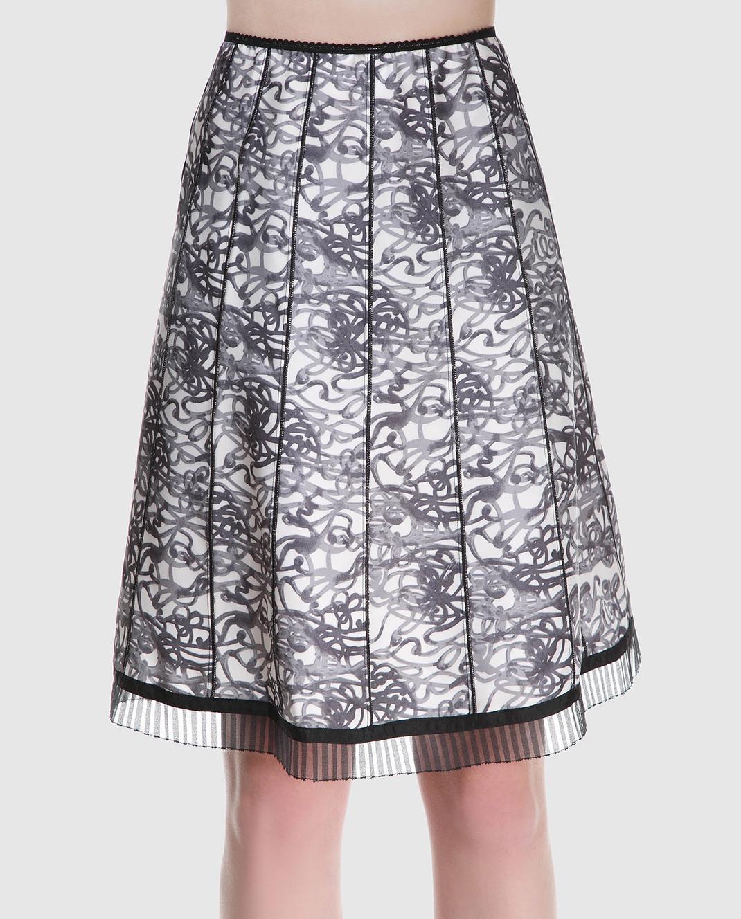 Marc Jacobs Черная юбка из шелка с принтом M4007179 изображение 2