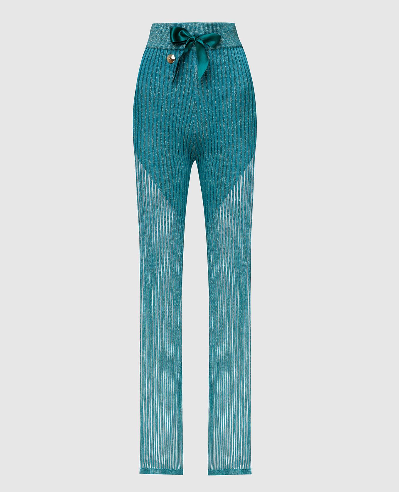 Бирюзовые брюки