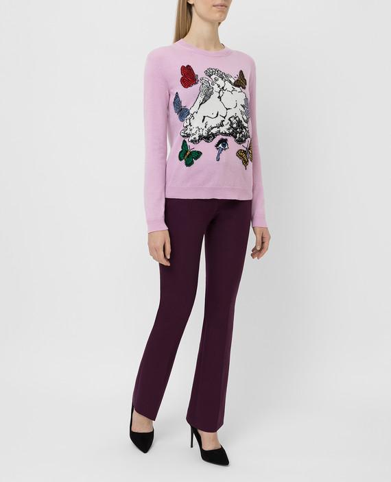 Фиолетовые брюки hover