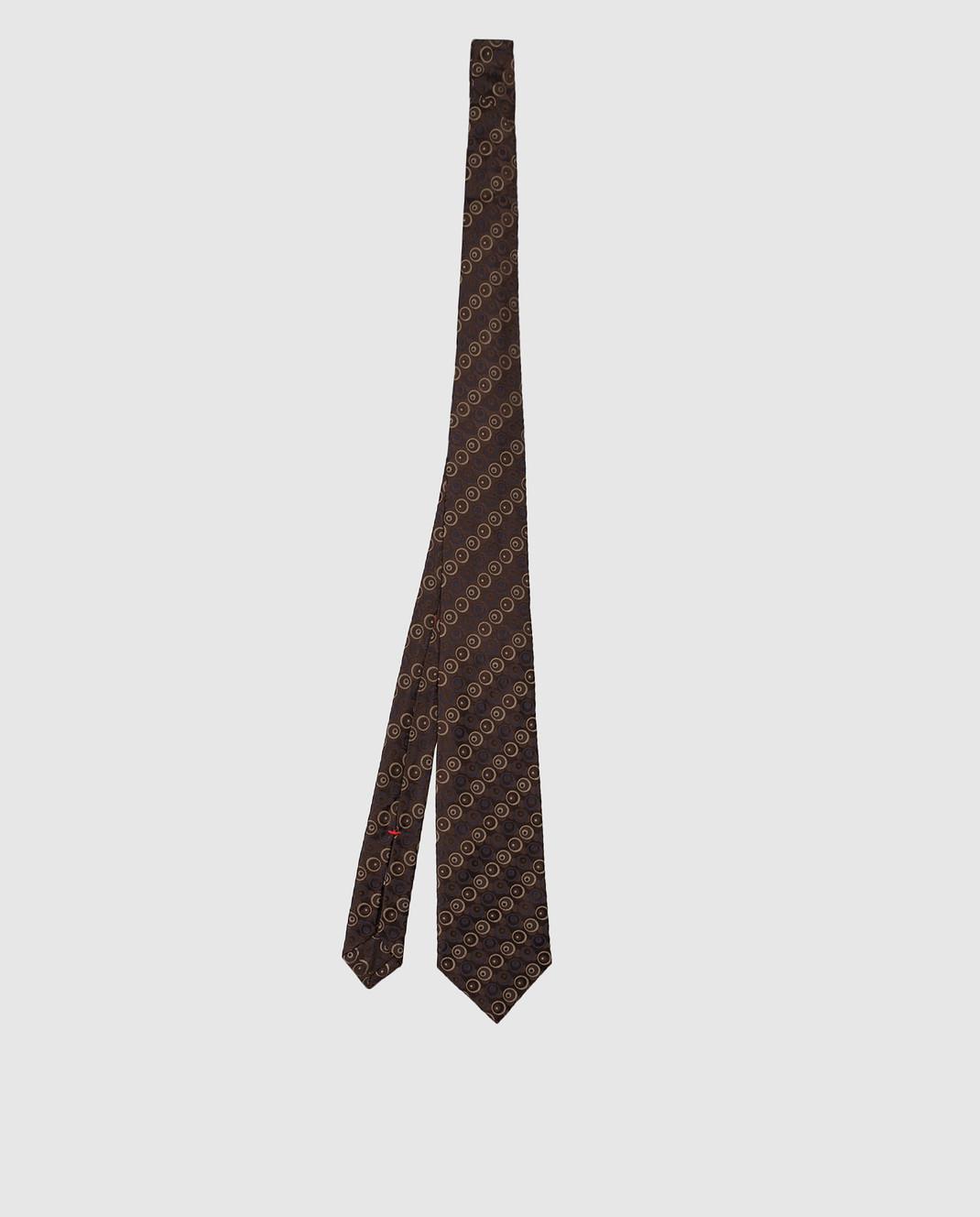 ISAIA Коричневый галстук из шелка CRV007CV53W изображение 3