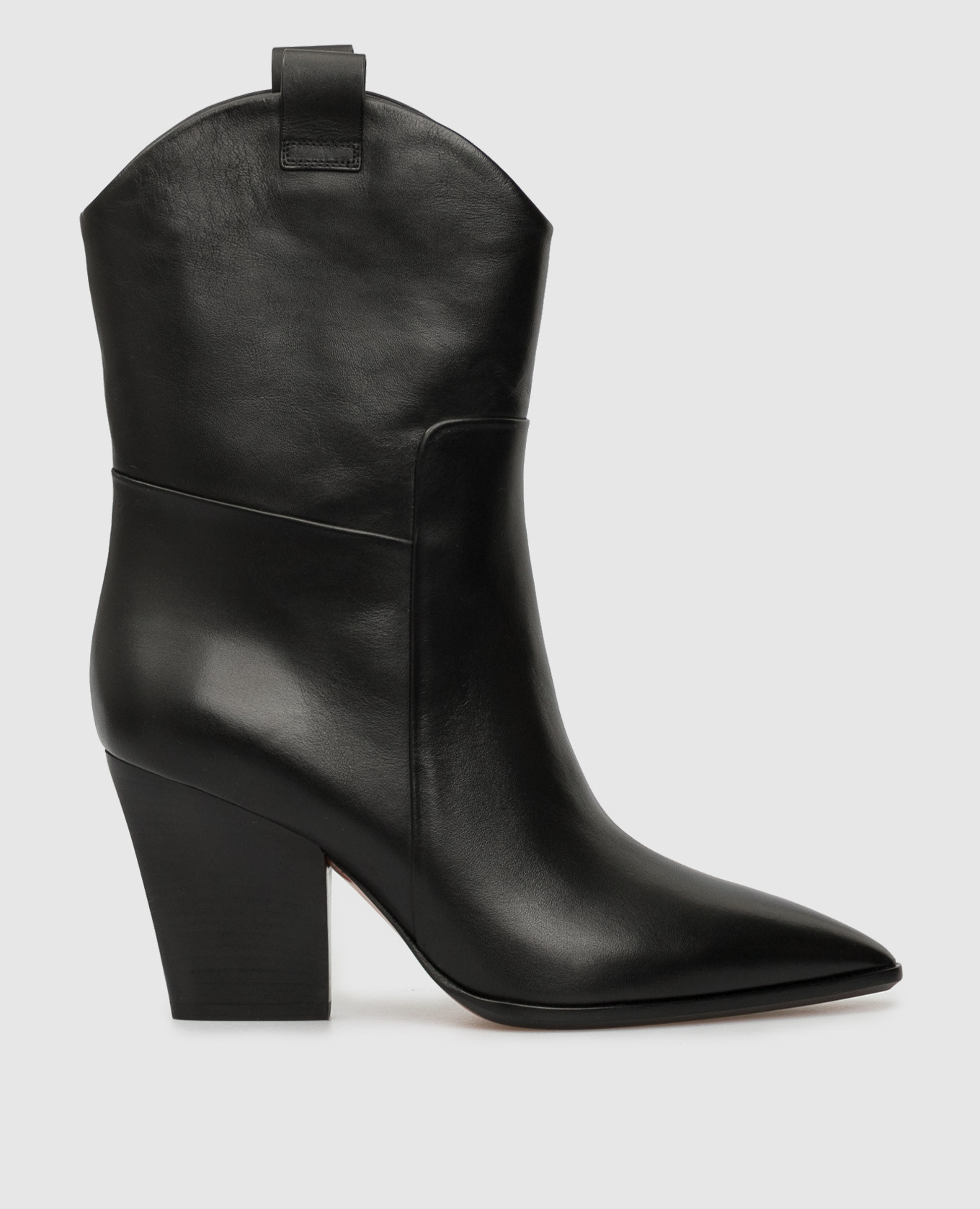 Черные кожаные казаки Santoni