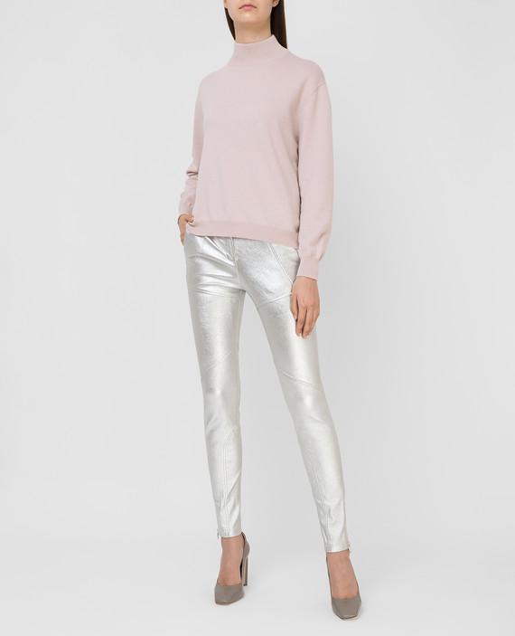 Серебристые брюки hover