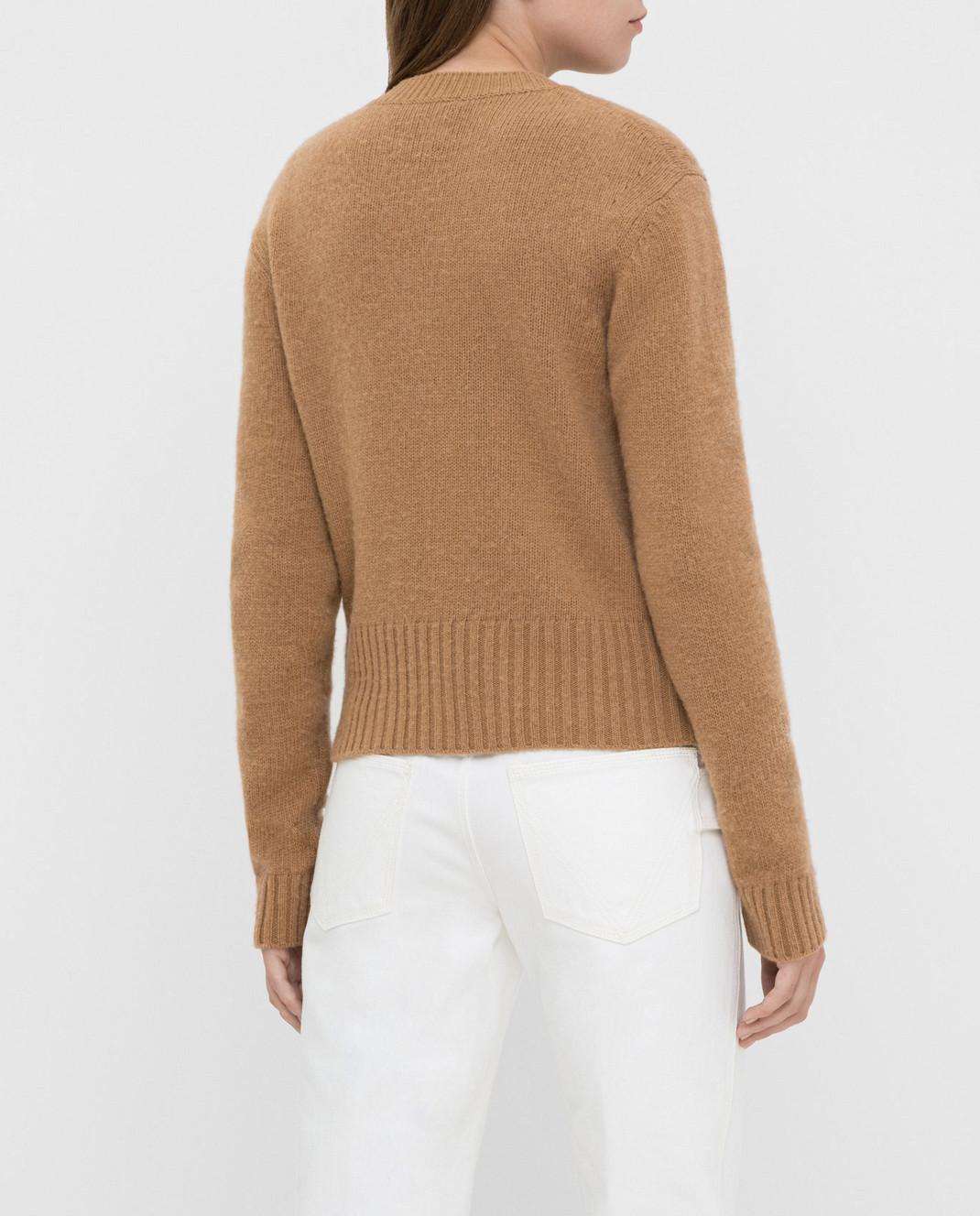 Bottega Veneta Бежевый свитер из шерсти 577543 изображение 4