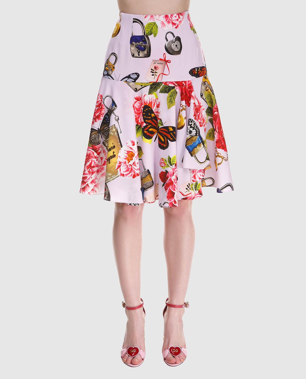 Dolce&Gabbana Юбка из шелка F4A8LTFSAUD изображение 3