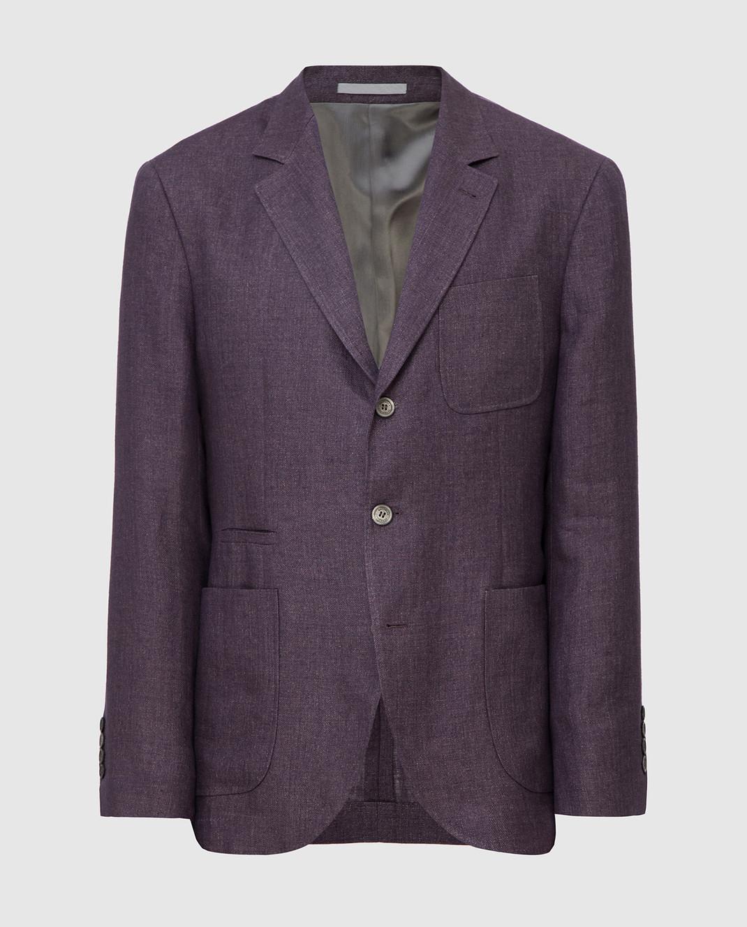 Brunello Cucinelli Сиреневый пиджак изображение 1