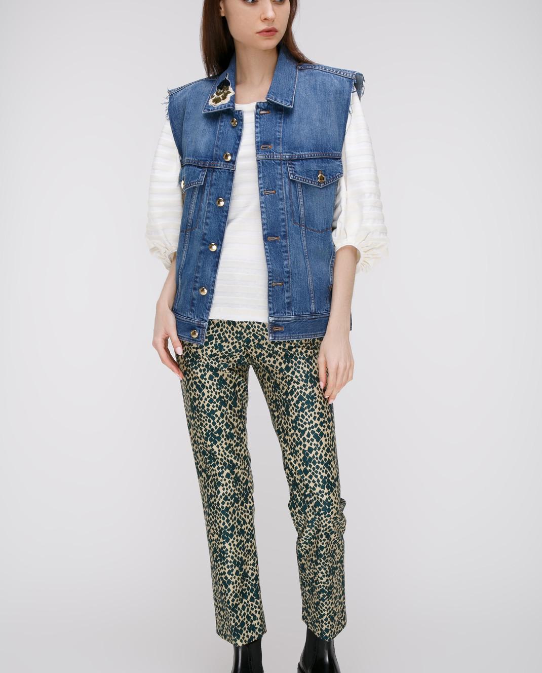 Sonia Rykiel Зеленые брюки 17331338 изображение 2