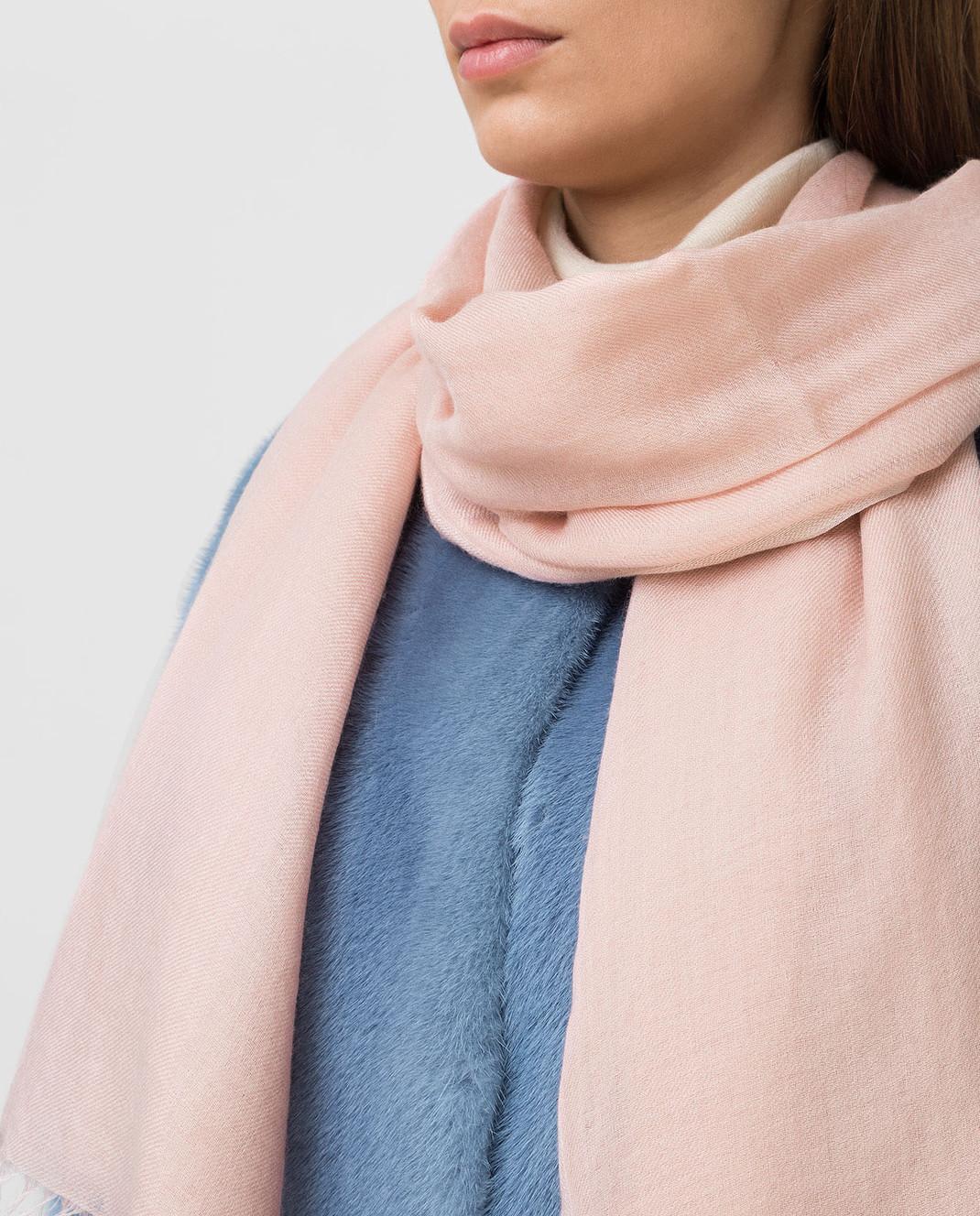 Loro Piana Розовый шарф из кашемира и шелка F3FAI0704 изображение 2