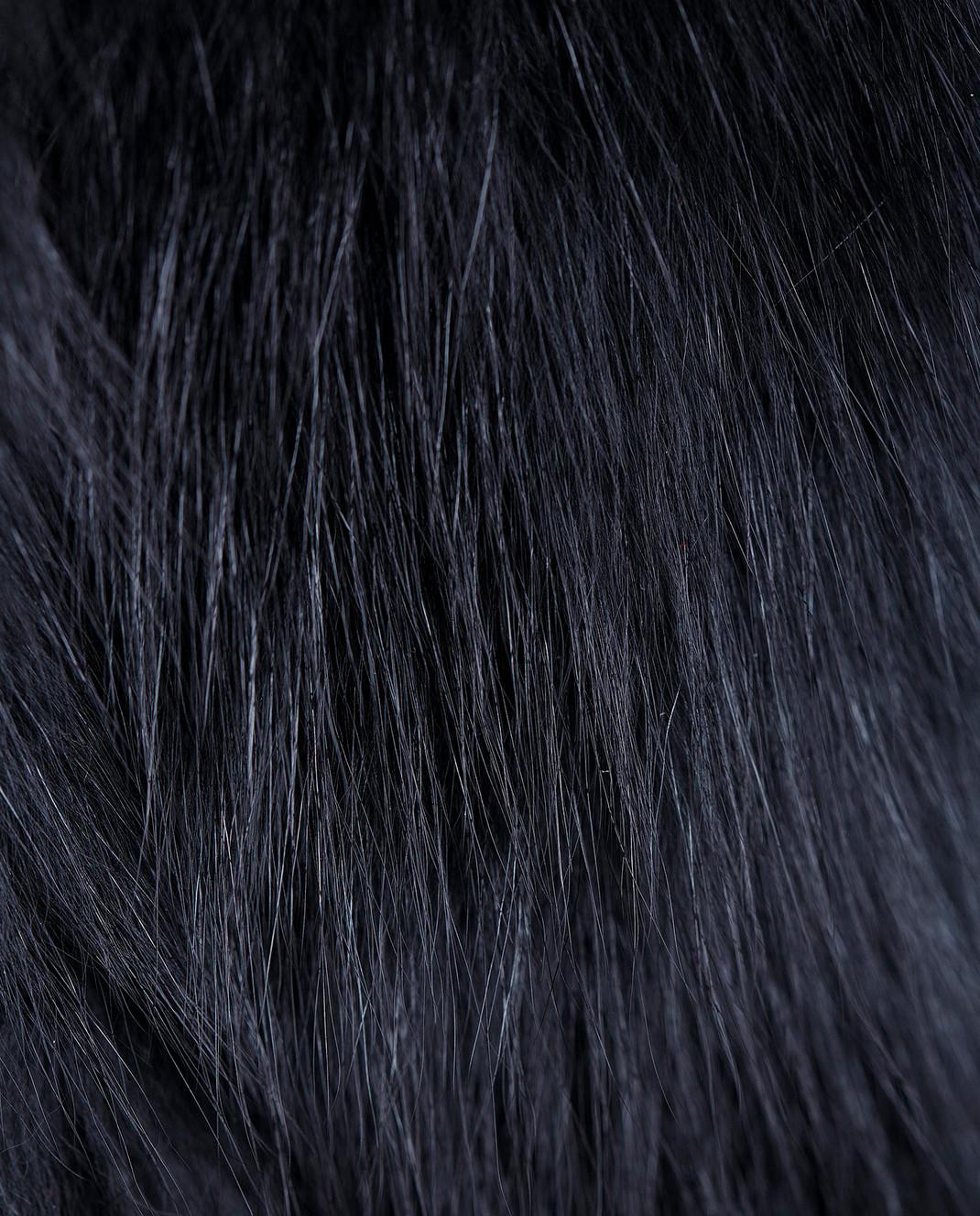 Annabella Черный жилет из меха лисы ручной работы 4AIRJ изображение 5