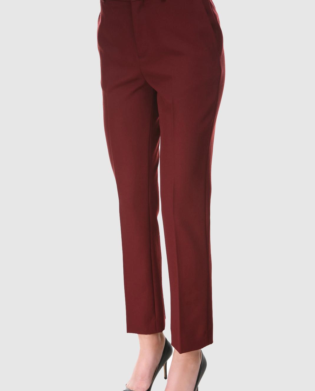 Victoria by Victoria Beckham Бордовые брюки из шерсти TRVV085B изображение 3