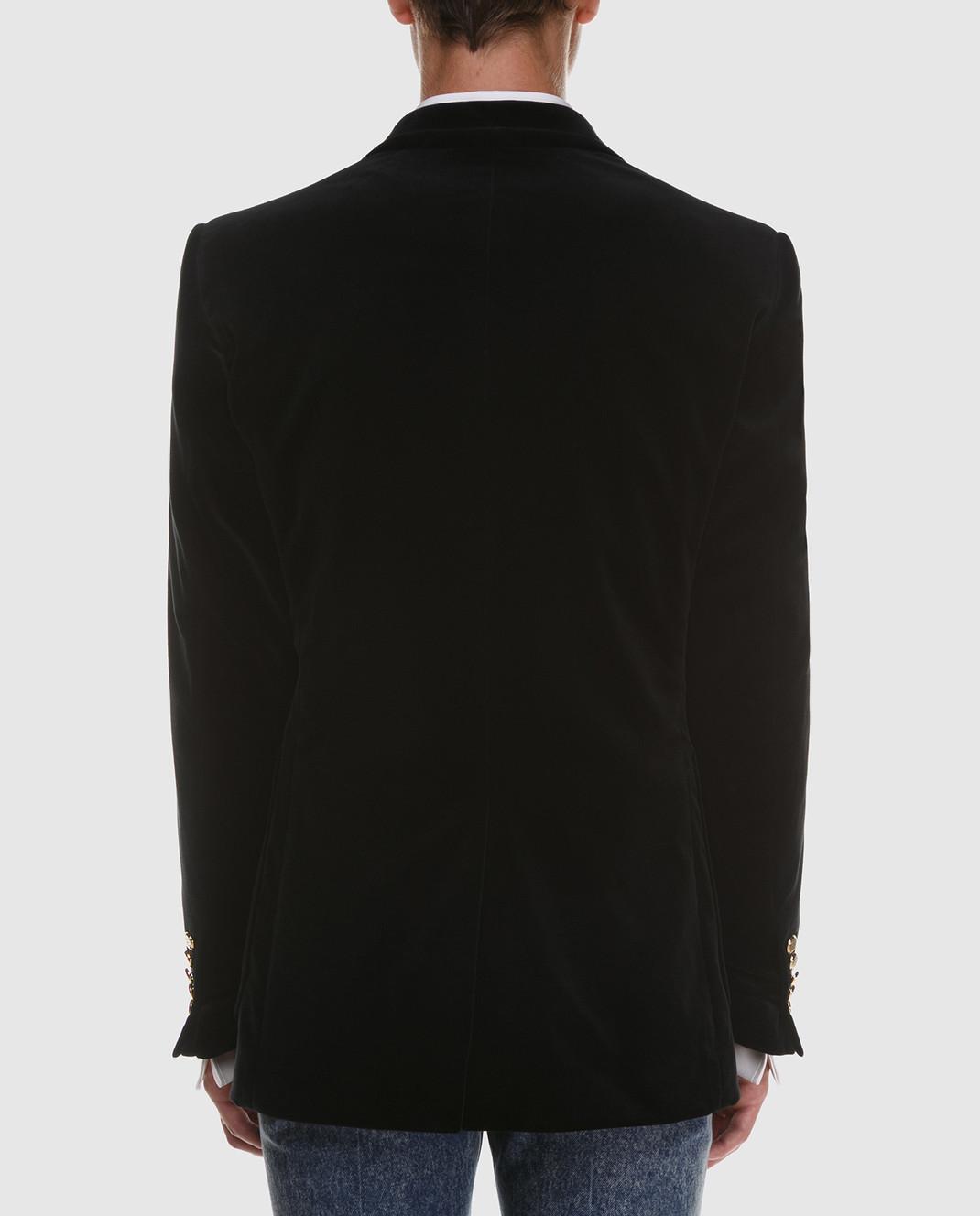 Gucci Черный бархатный пиджак изображение 4