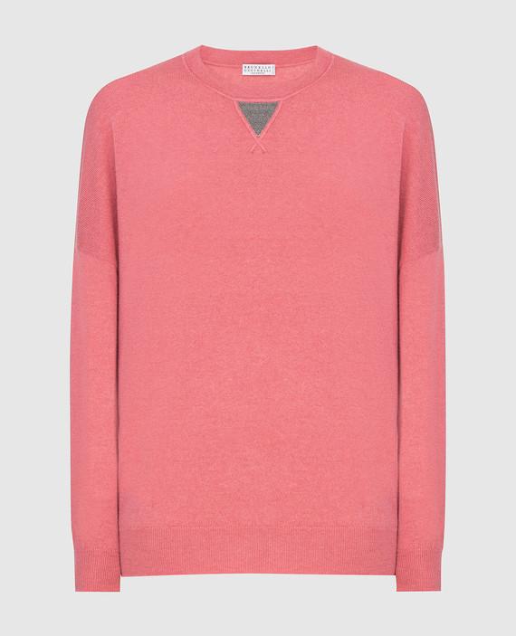 Розовый джемпер из кашемира