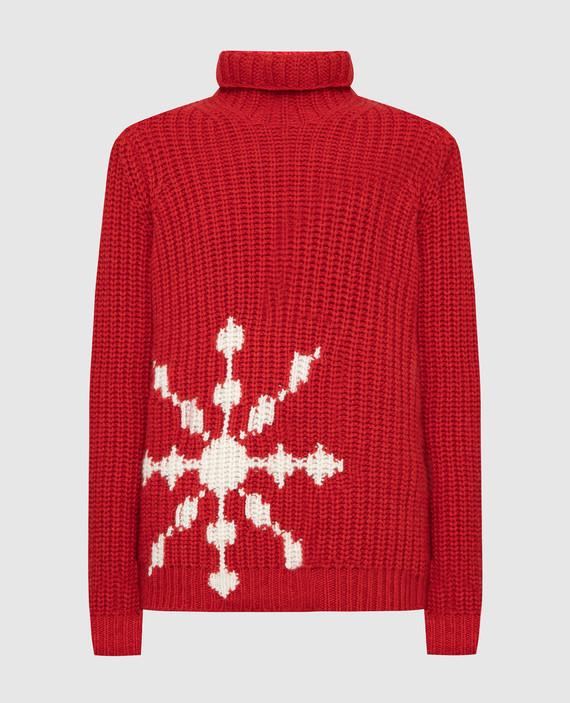 Красный свитер из кашемира