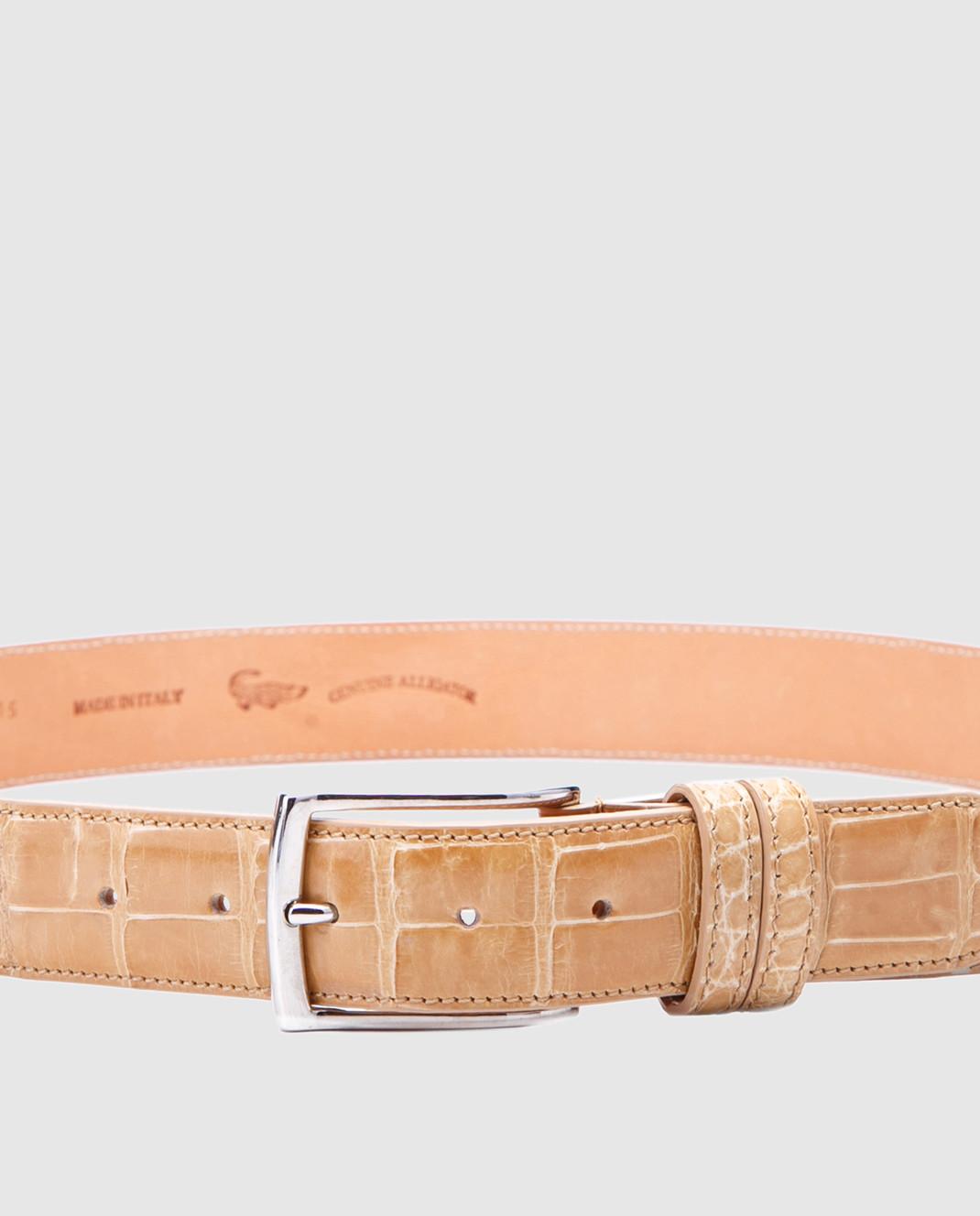 Bochicchio Песочный кожаный ремень ALLIGATBELTS изображение 3