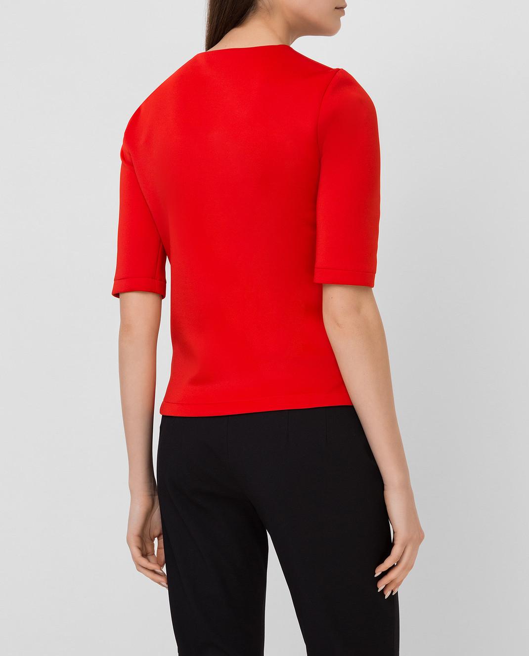 Bottega Veneta Красная футболка 405392 изображение 4