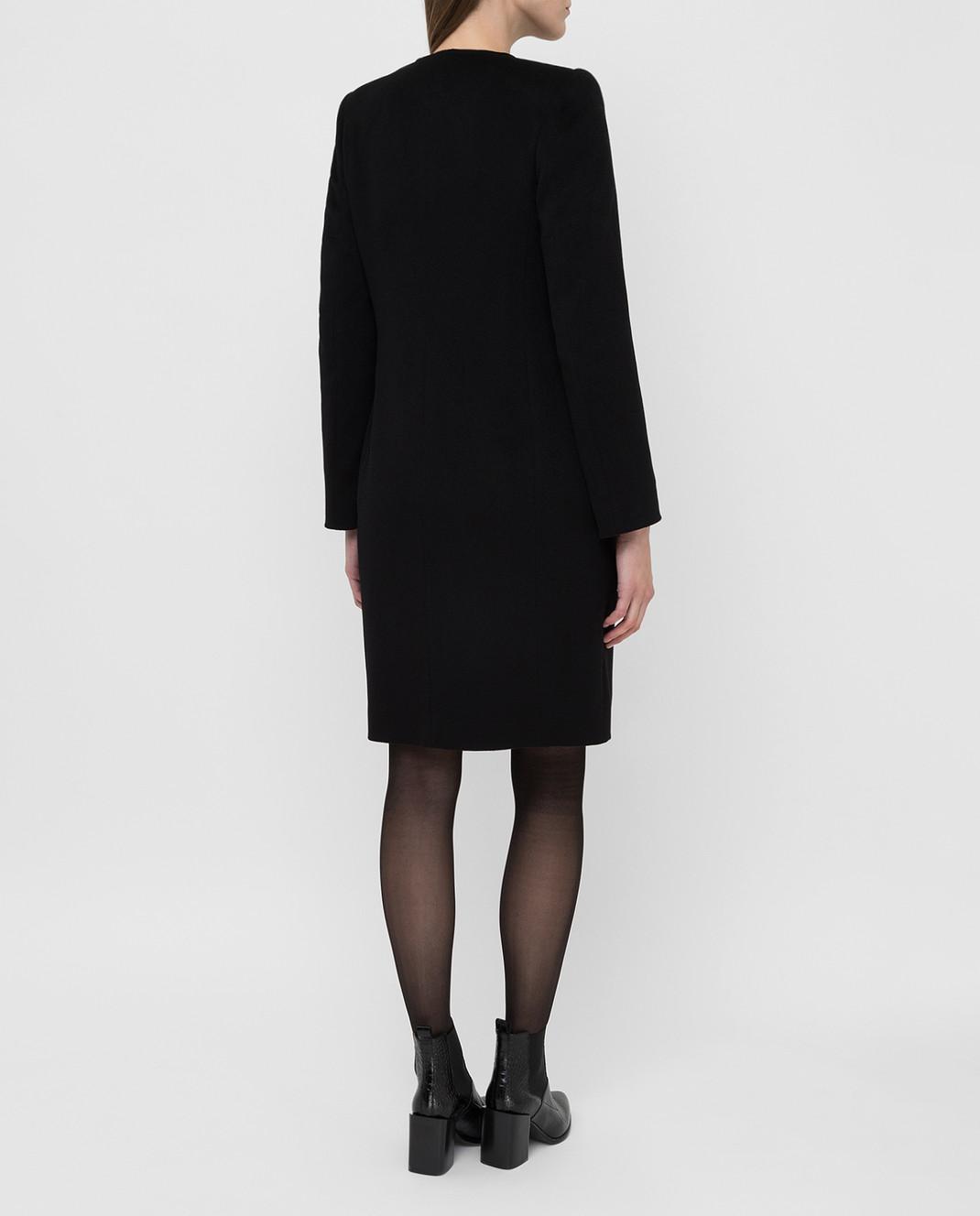 Heresis Черное пальто из шерсти D20M100SLIMG300 изображение 4