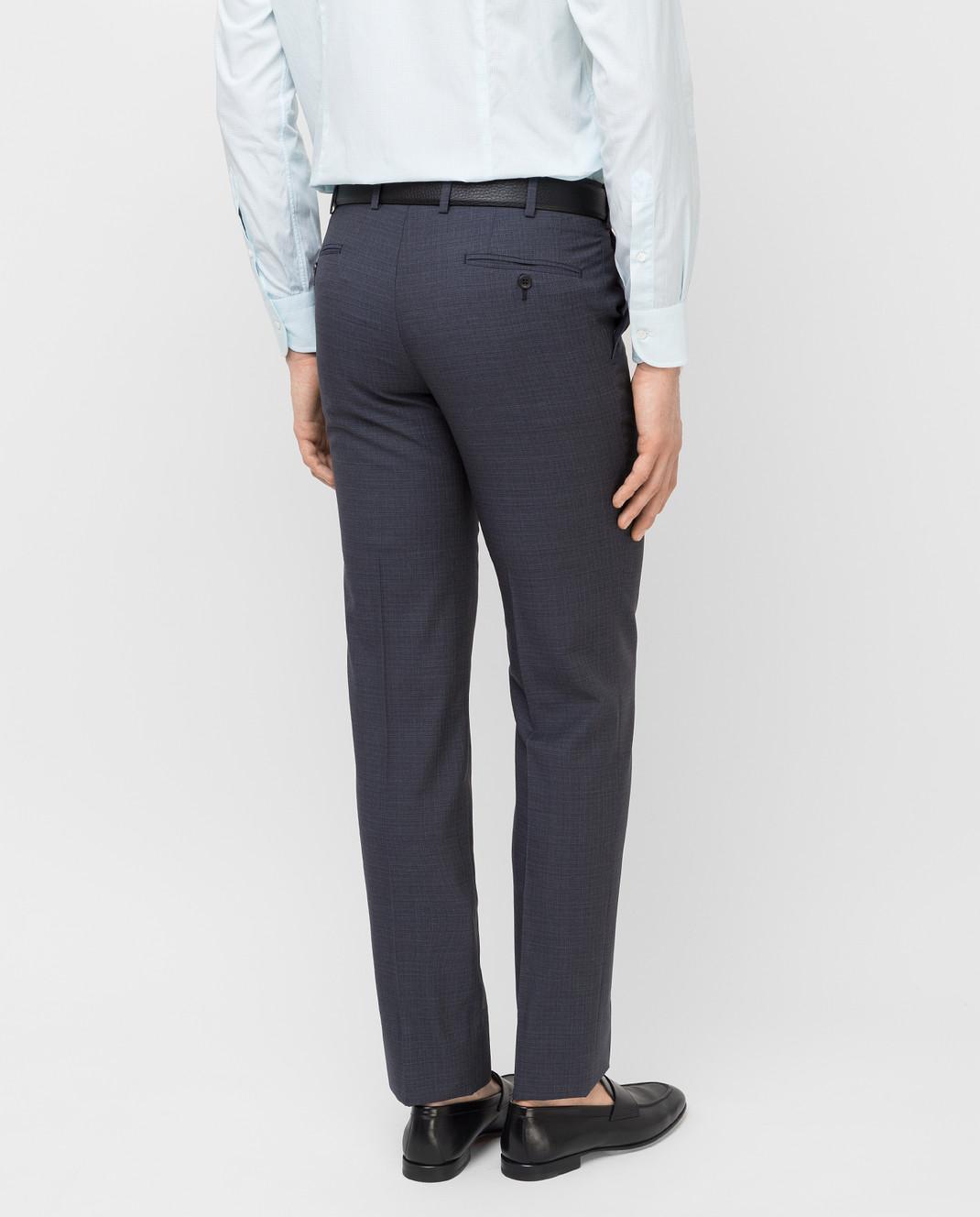 Brioni Темно-серые брюки из шерсти RPL80PP7AW7 изображение 4