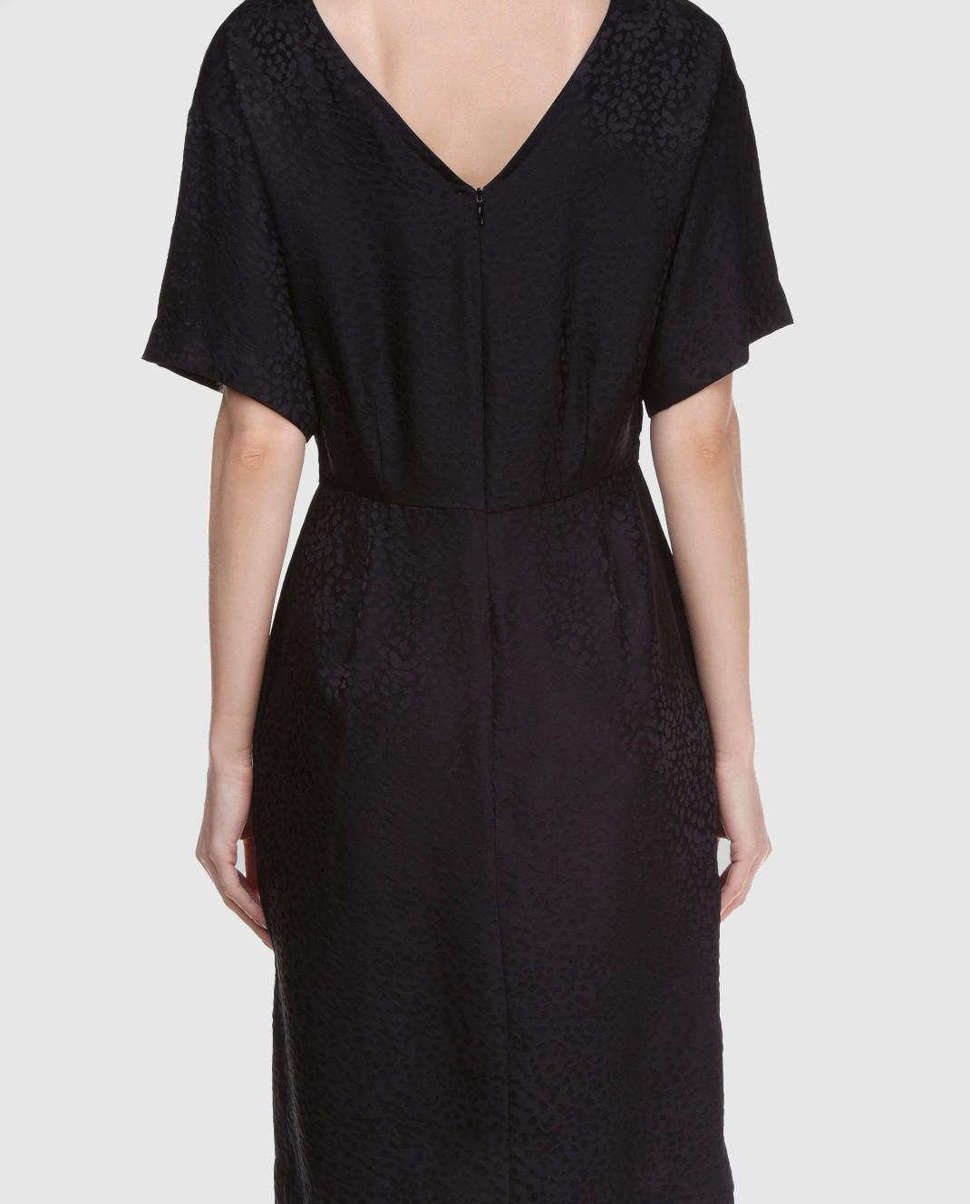 Alexander Terekhov Черное платье из шелка изображение 4