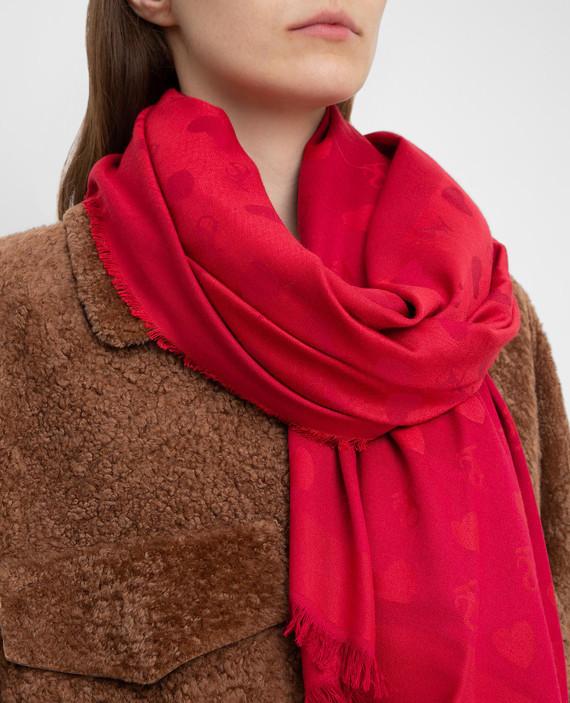 Красный шарф hover