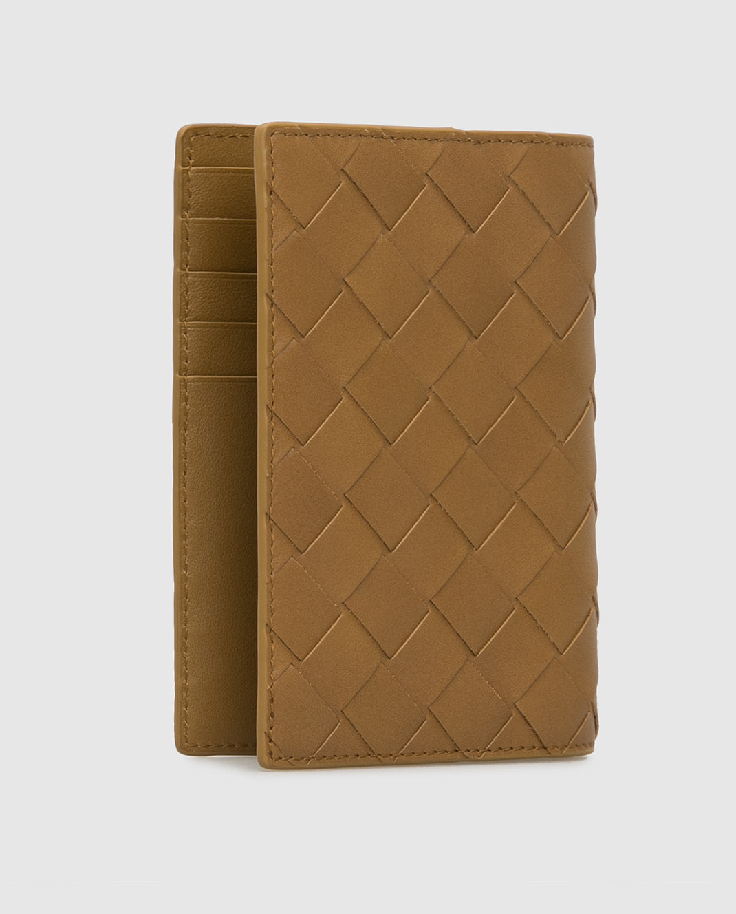Bottega Veneta Горчичная кожаная обложка для паспорта изображение 2