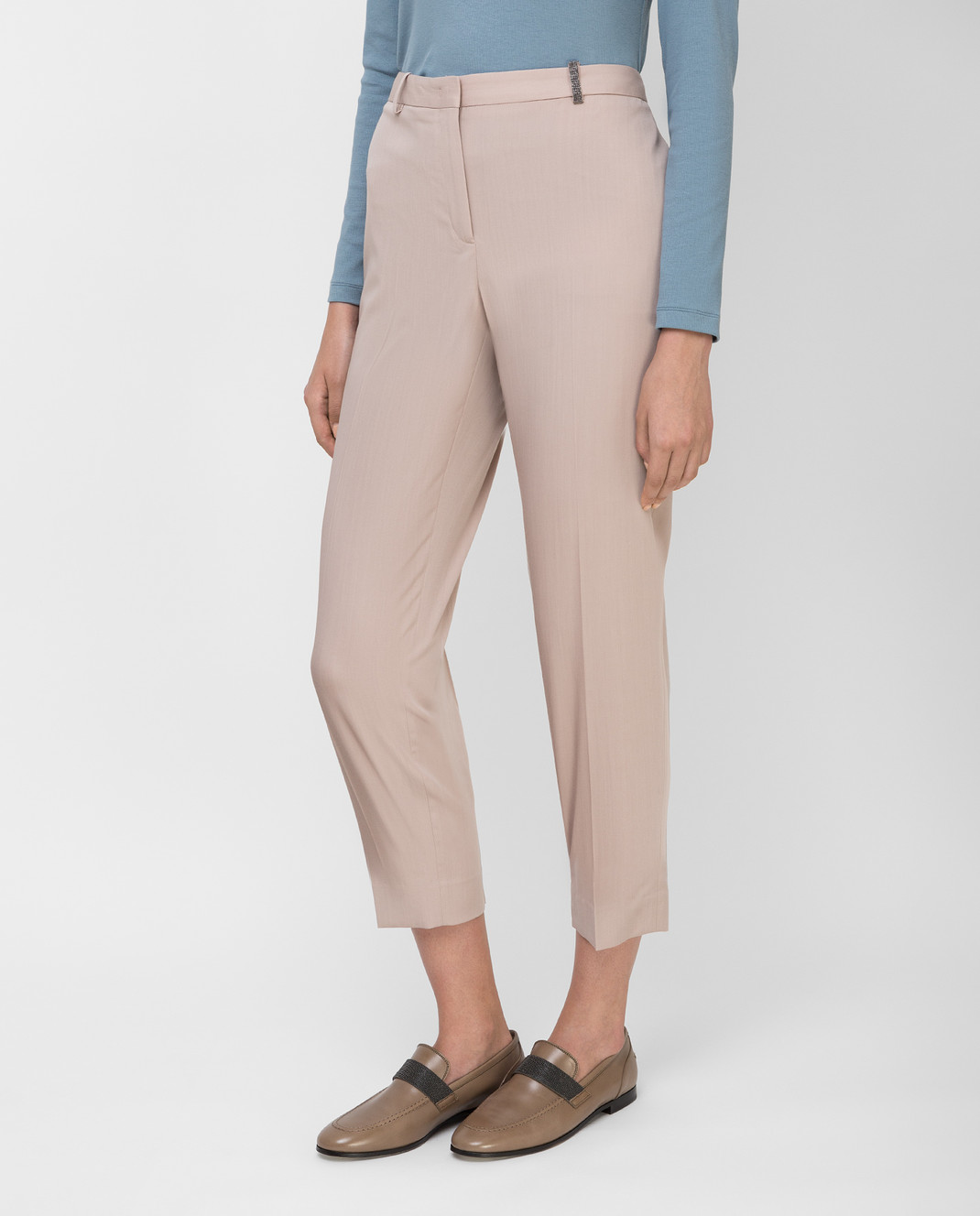 Fabiana Filippi Бежевые брюки из шерсти изображение 3